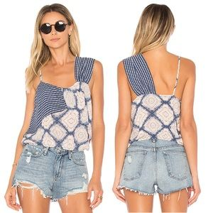 Free People Blue Print Top Size S